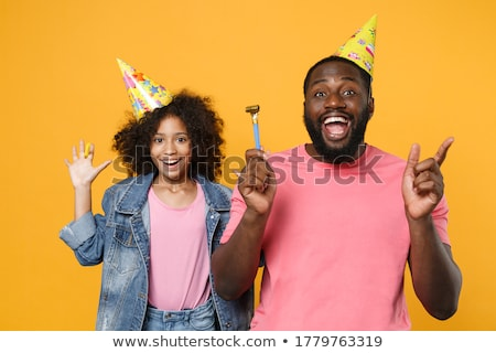african american boy pointing finger stock photo © bluering