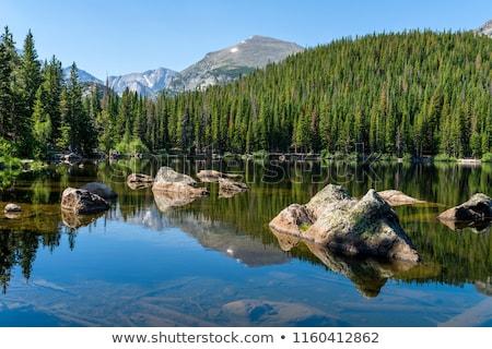 Güzel göl dağlar bahar dağ manzara Stok fotoğraf © Kotenko