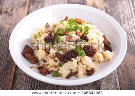 Risotto comida arroz almoço cogumelo refeição Foto stock © M-studio