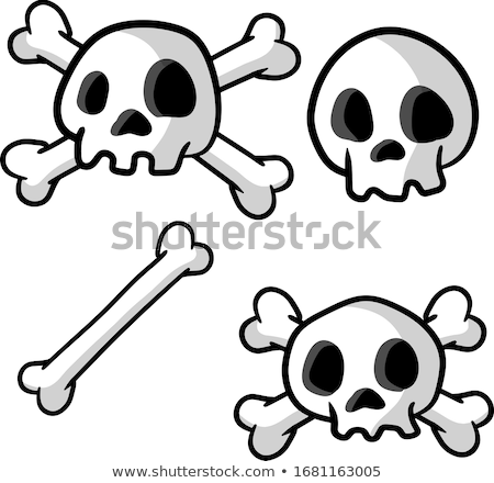 Cartoon Skull and Crossbones Stock photo © Krisdog
