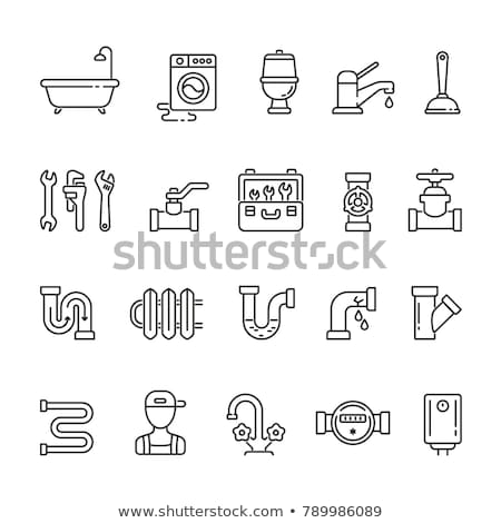 water drop and water pipe - icon design Stock photo © djdarkflower
