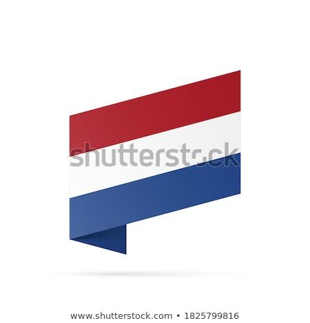 Niederlande Flagge isoliert modernen Schatten Hintergrund Stock foto © kyryloff