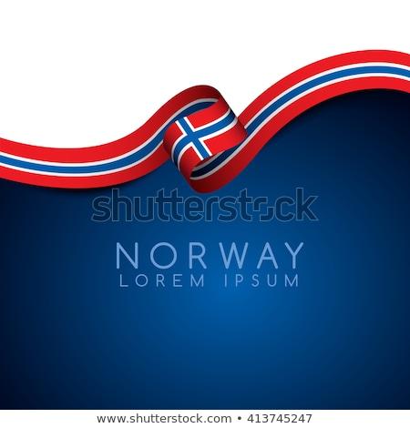 Noruega · bandeira · isolado · moderno · sombra · projeto - foto stock © kyryloff