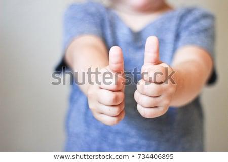 Lachend meisje shirt portret tiener persoon Stockfoto © Lupen