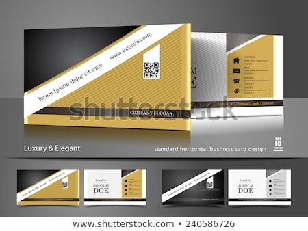 Nero biglietto da visita diagonale linee contatto stampa Foto d'archivio © SArts