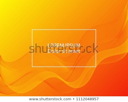 Dumanlı sarı kırmızı dalga soyut dizayn Stok fotoğraf © SArts