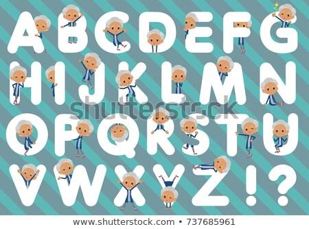 Cardigã velho mulheres conjunto projeto Foto stock © toyotoyo