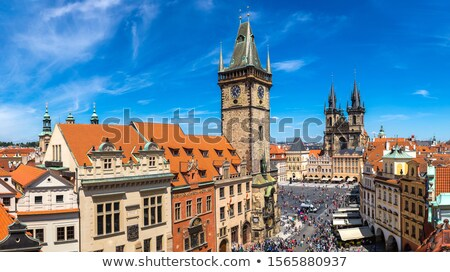 Old Town Square from above Stock photo © Givaga