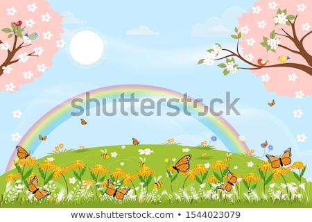Família história tempo cena ilustração crianças Foto stock © bluering