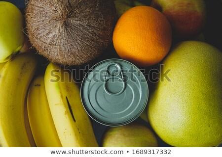 Fresco estanho maçã ilustração fruto fundo Foto stock © bluering