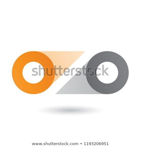 Orange and Grey Double Letter O Vector Illustration Stock photo © cidepix