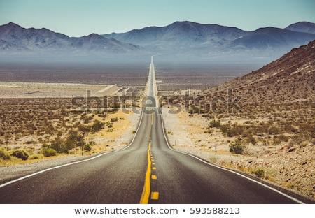Photo stock: Route · mort · vallée · parc · Californie · USA