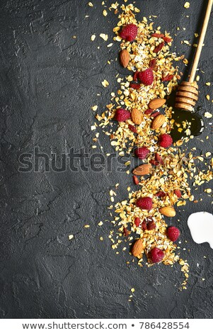 müsli · haver · zemelen · arrangement · witte - stockfoto © artjazz