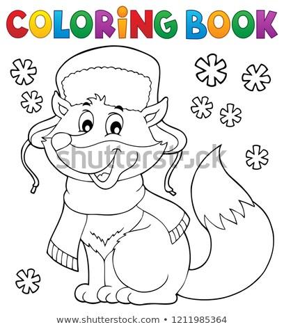 Libro da colorare inverno Fox libro felice arte Foto d'archivio © clairev