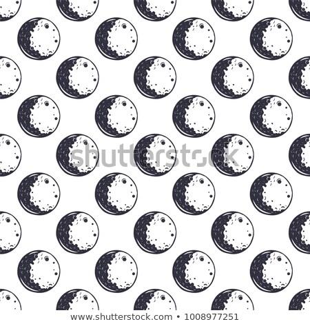 月 モノクロ ヴィンテージ 手描き スペース ストックフォト © JeksonGraphics