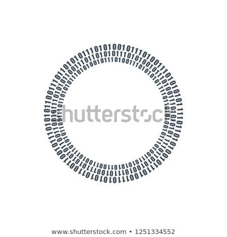 Three circles binary circuits, future technology, cyber security concept, vector illustration. Stock photo © kyryloff