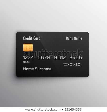 vector blank bank card mockup Stock photo © TRIKONA