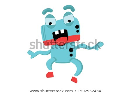 cartoon angry spaceman robot stock photo © cthoman