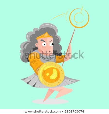 Cartoon Smiling Hermes Woman Stock photo © cthoman