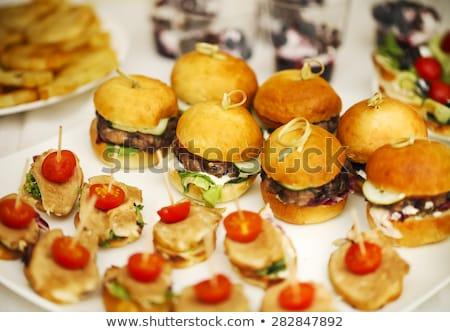 指 食品 ビュッフェ 食べ 高級 健康 ストックフォト © M-studio
