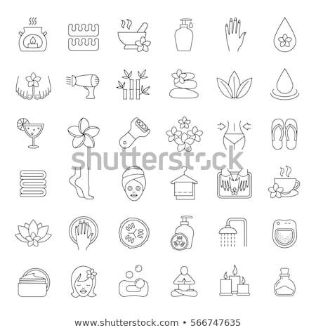 spa salon pedicure procedures icons set vector stock photo © robuart