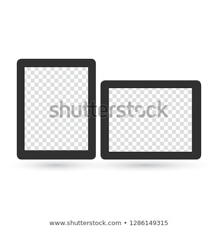 Valósághű képkeret sablonok szett tájkép portré Stock fotó © kyryloff