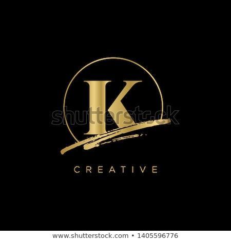 black icon line letter k logo vector Stock photo © blaskorizov