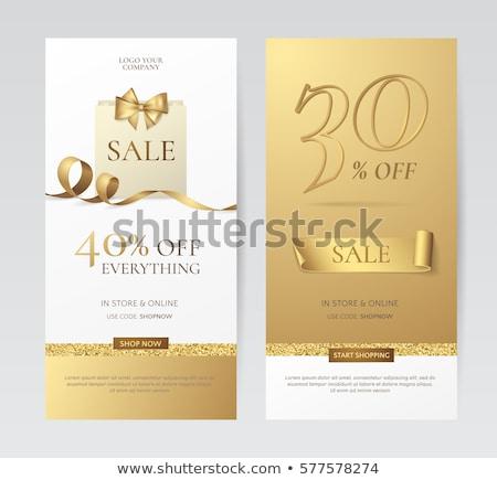 Prémium szett arany függőleges bannerek üzlet Stock fotó © SArts