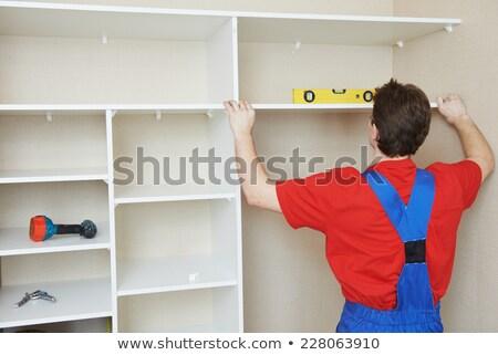 handyman fitting cabinet stock photo © andreypopov