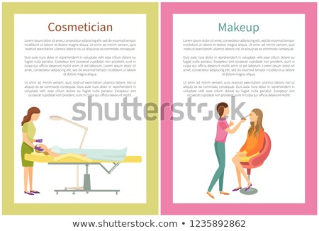 Cosmetician and Makeup Visagiste Posters Vector Stock photo © robuart