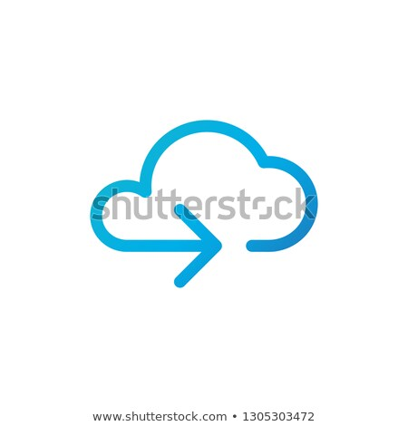 Data cloud icon. Backup, restore. Upload, download. Arrow as a part of cloud. Vector illustration is Stock photo © kyryloff