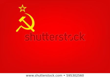USSR flag isolated on white Stock photo © daboost