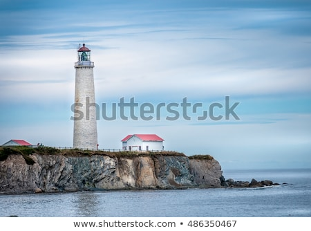 Stok fotoğraf: Kapak · deniz · feneri · Quebec · Kanada · ışık · gündoğumu