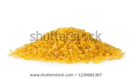 Wheat groats on white Stock photo © AGfoto