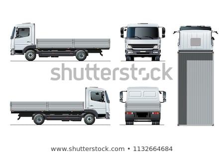 Vector Flatbed Truck Template Isolated On White Stock fotó © Mechanik