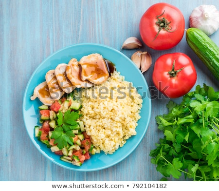 Stock fotó: Bulgur with meat and vegetables