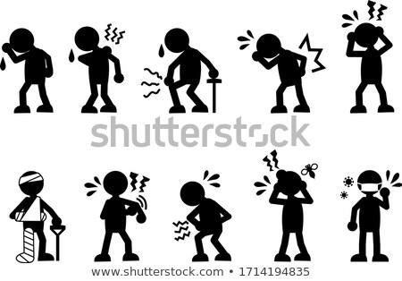 vector set of people scratching back stock photo © olllikeballoon