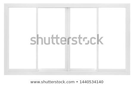 Pvc venster geïsoleerd witte Stockfoto © magraphics