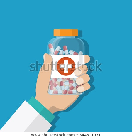 health care concept, doctor give a medicine bottle of drugs pill Stock photo © snowing