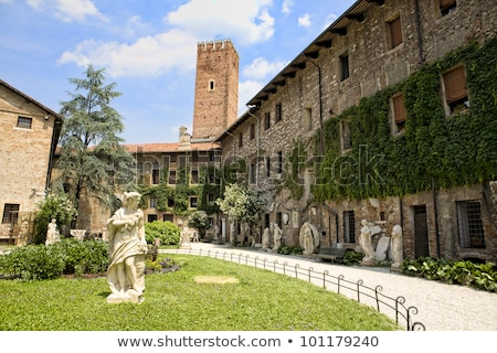 statue at courtyard of the teatro olimpico in vicenza italy stock photo © boggy