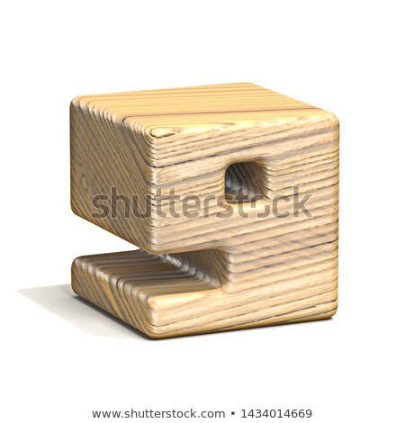 Solid wooden cube font Number 9 NINE 3D Stock photo © djmilic