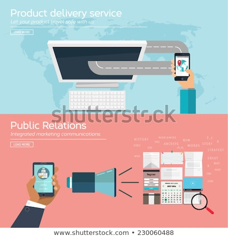 Public relations app interface template. Stock photo © RAStudio