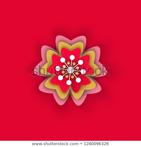 Virág papír origami ázsiai művészet vektor Stock fotó © robuart