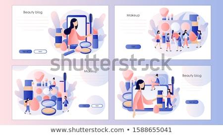 Schoonheid blogger landing pagina sjabloon mode Stockfoto © RAStudio