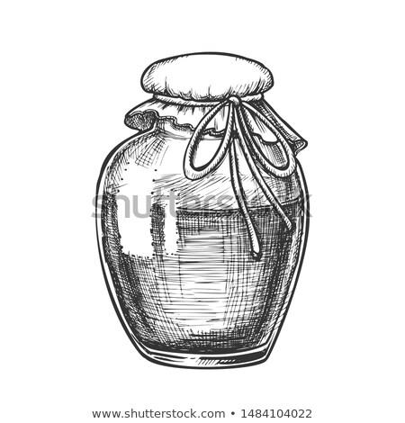vektör · gerçekçi · kavanoz · cam · kırmızı · konteyner - stok fotoğraf © pikepicture