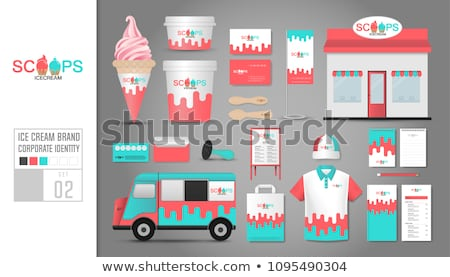 Ice-cream and Dessert Logotype, Sweet Logo Vector Stock photo © robuart