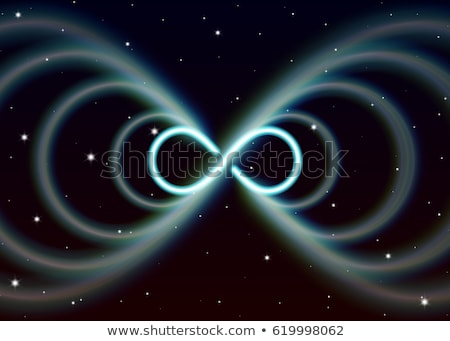 Magic infinity symbol, lemniscate or sideways eight spreads the  Stock photo © SwillSkill