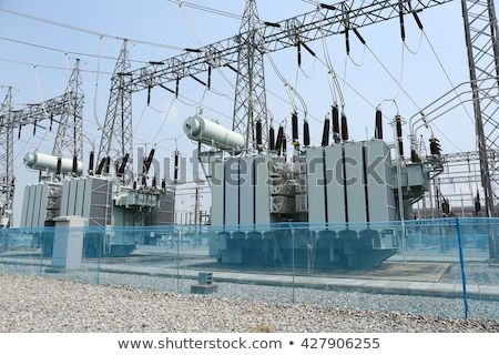 Erő transzformátor technológia tájkép absztrakt munka Stock fotó © dariazu