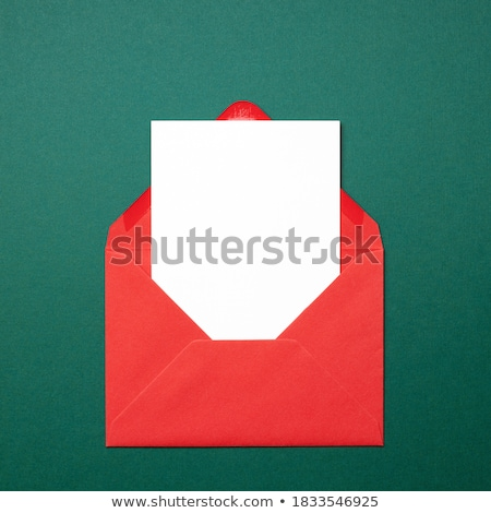 Rood · satijn · lint · witte · grens - stockfoto © jsnover