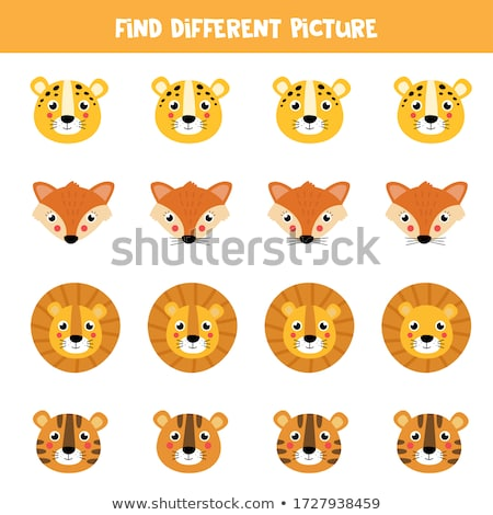 differences game with african animal characters stock photo © izakowski